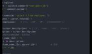 sqlite3 设置返回值为字典类型
